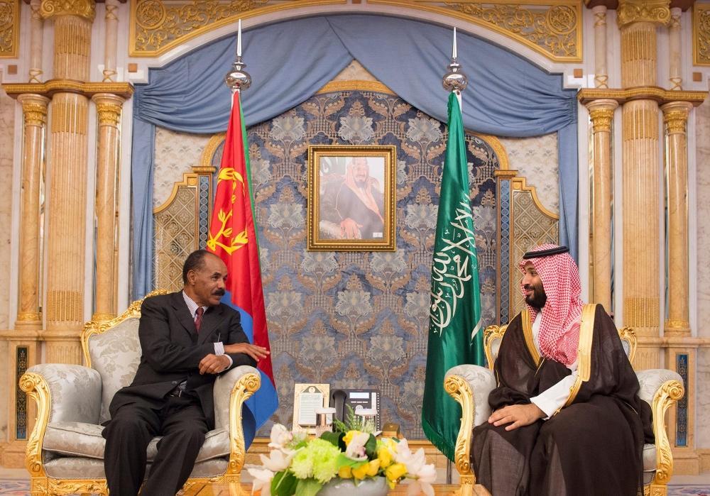 ولي العهد السعودي يبحث مع الرئيس الإريتري العلاقات الثنائية بين البلدين