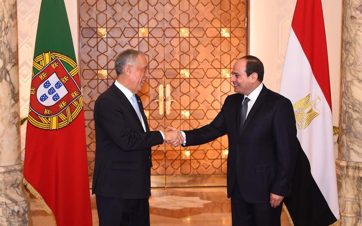 الرئيس البرتغالي : مصر مفتاح المنطقة وعلاقتي بالسيسي ايجابية