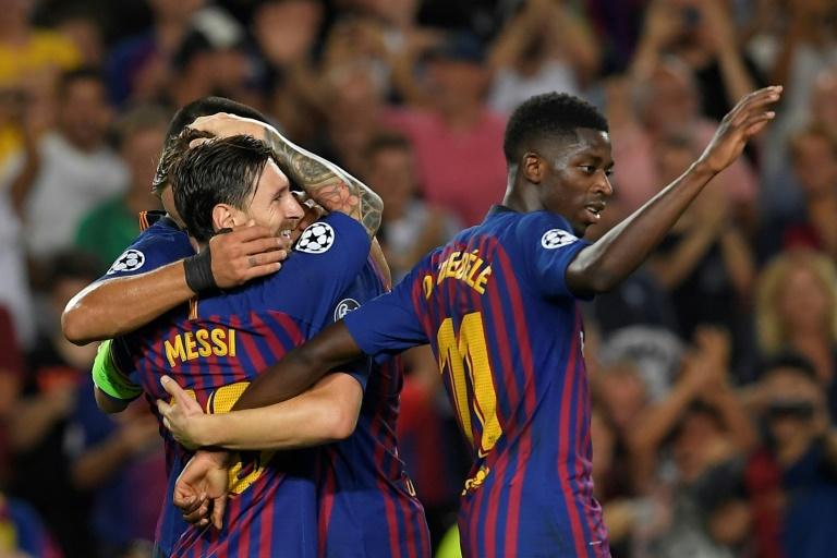 ميسي يقود برشلونة للفوز علىايندهوفن برباعية فيدوري أبطال أوروبا