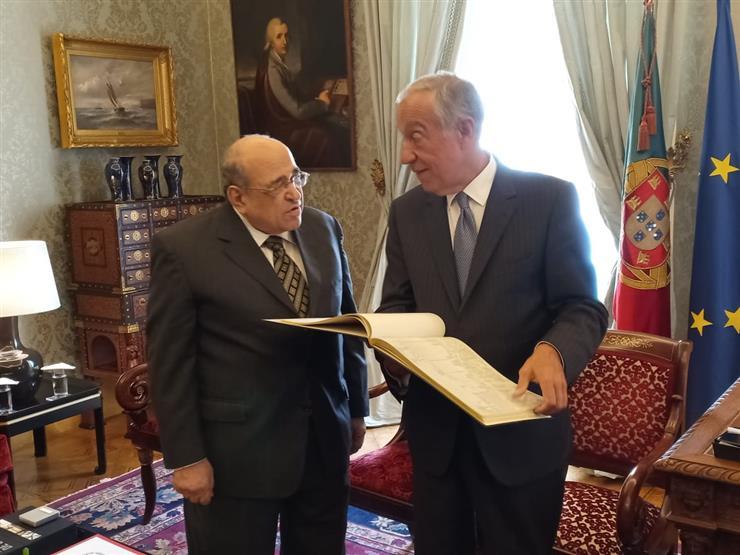 الرئيس البرتغالي يشيد بالعلاقات المتميزة بين مصر وبلاده