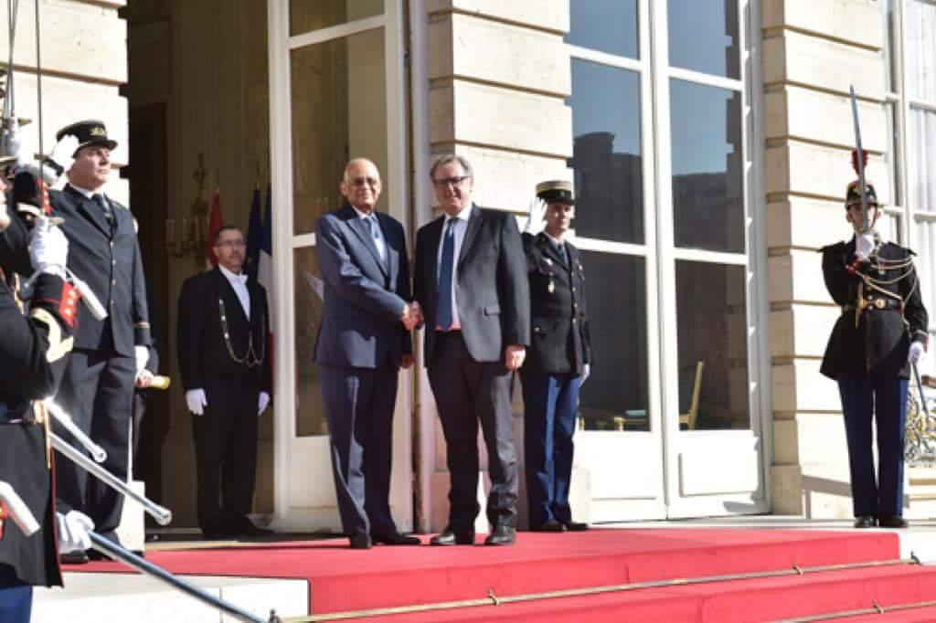 بالصور/ رئيس الجمعية الوطنية الفرنسية يشيد بدور مصر فى مكافحة الإرهاب