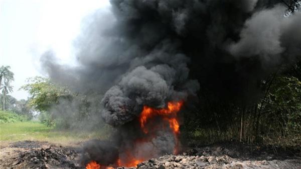 ارتفاع عدد ضحايا حريق خط أنابيب نفطى فى نيجيريا إلى 60 قتيل