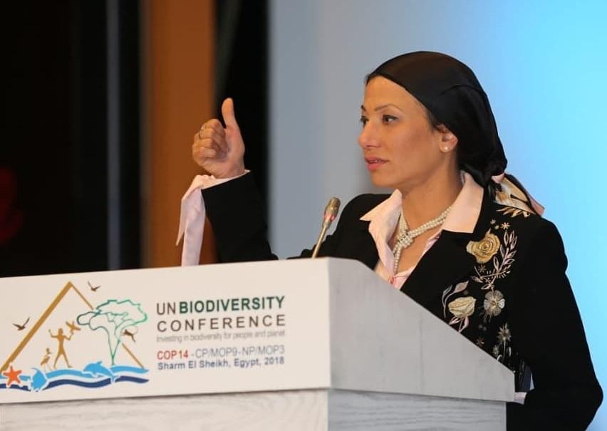 وزيرة البيئة : السيسي أول رئيس يحضر حدثًا عالميًا بيئيًا على أرض مصر