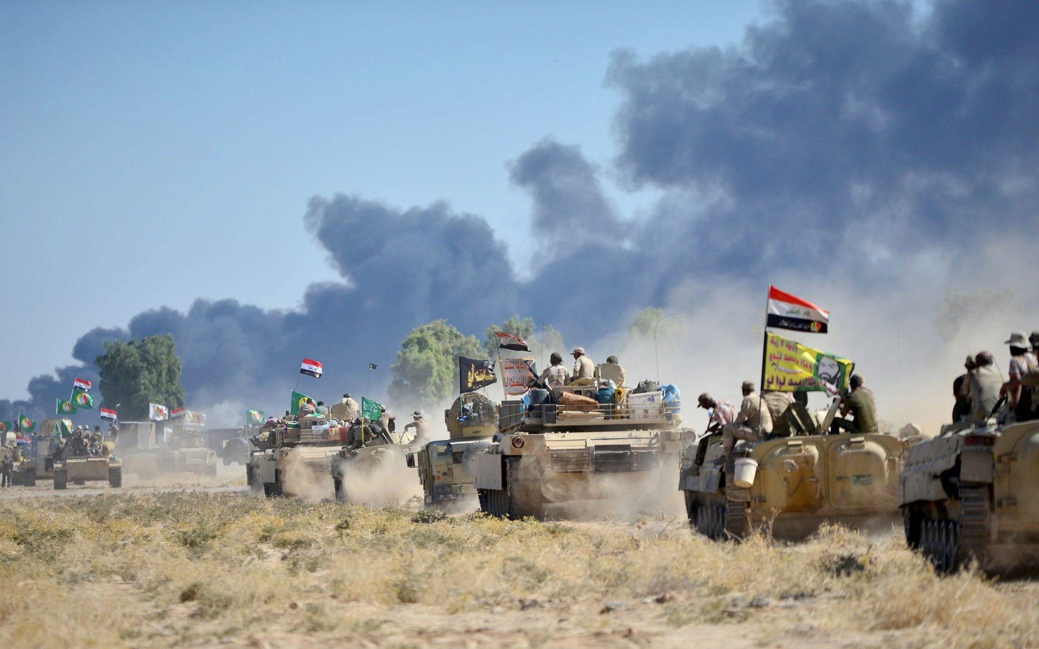 القوات العراقية تعثر على 70 عبوة ناسفة وتفجر 5 أنفاق فى نينوى
