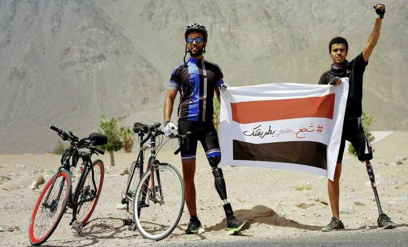رحلة للمغامر عمر حجازي من طابا إلى الأهرامات على دراجة هوائية