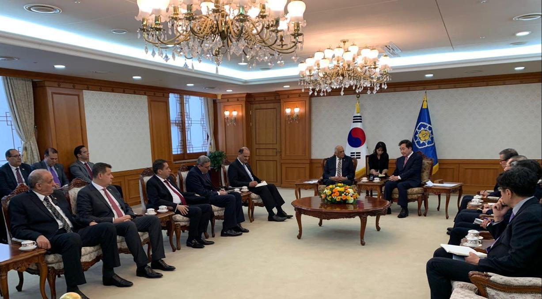 صور | عبدالعال يلتقي رئيس وزراء كوريا الجنوبية