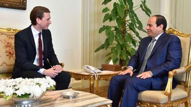 الرئيس يبحث هاتفيًا مع مستشار النمسا سبل مكافحة الهجرة غير الشرعية والارهاب