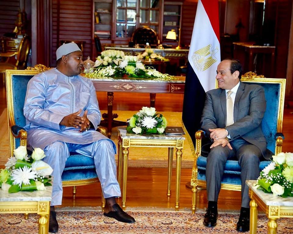 الرئيس السيسي : حريصون على العمل لتعزيز التعاون مع  جامبيا في مختلف المجالات