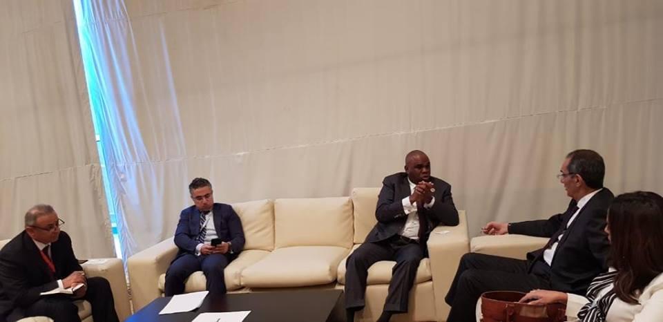 وزير الاتصالات يبحث مع رئيس البنك الأفريقي للصادرات والواردات آليات التعاون المشترك