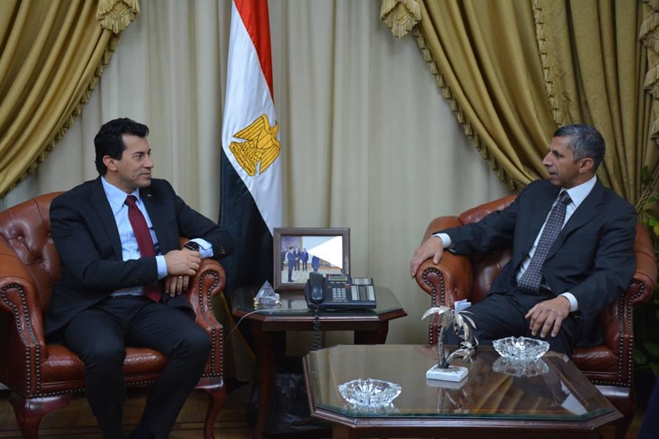 صور | وزير الرياضة يلتقي مساعد وزير الخارجية للشئون الثقافية لبحث التعاون المشترك