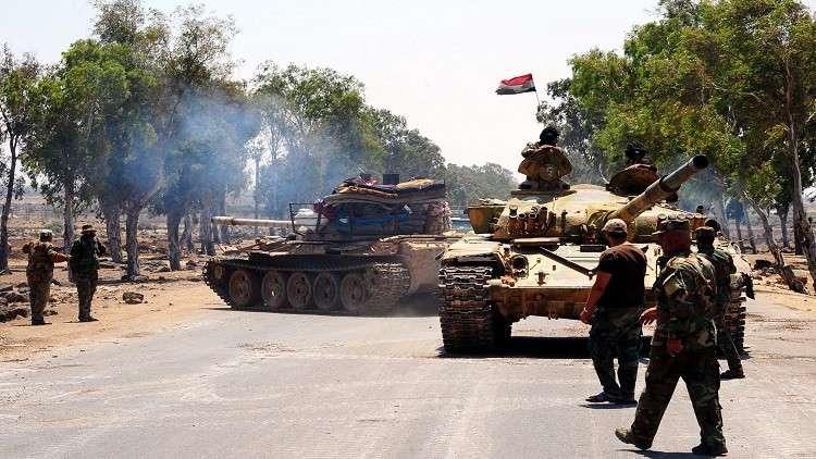 ضبط شبكة أنفاق وتحصينات للإرهابيين في مزارع حصرايا بريف حماة الشمالي