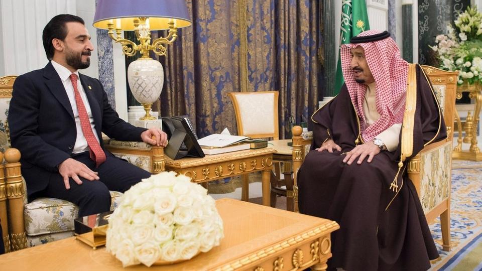 صور   الملك سلمان يبحث مع رئيس مجلس النواب العراقي العلاقات الثنائية