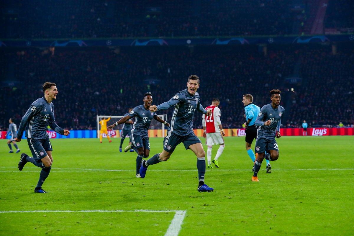 بايرن يتعادل مع أياكس ويحتفظ بصدارة المجموعة الخامسة في دوري أبطال أوروبا