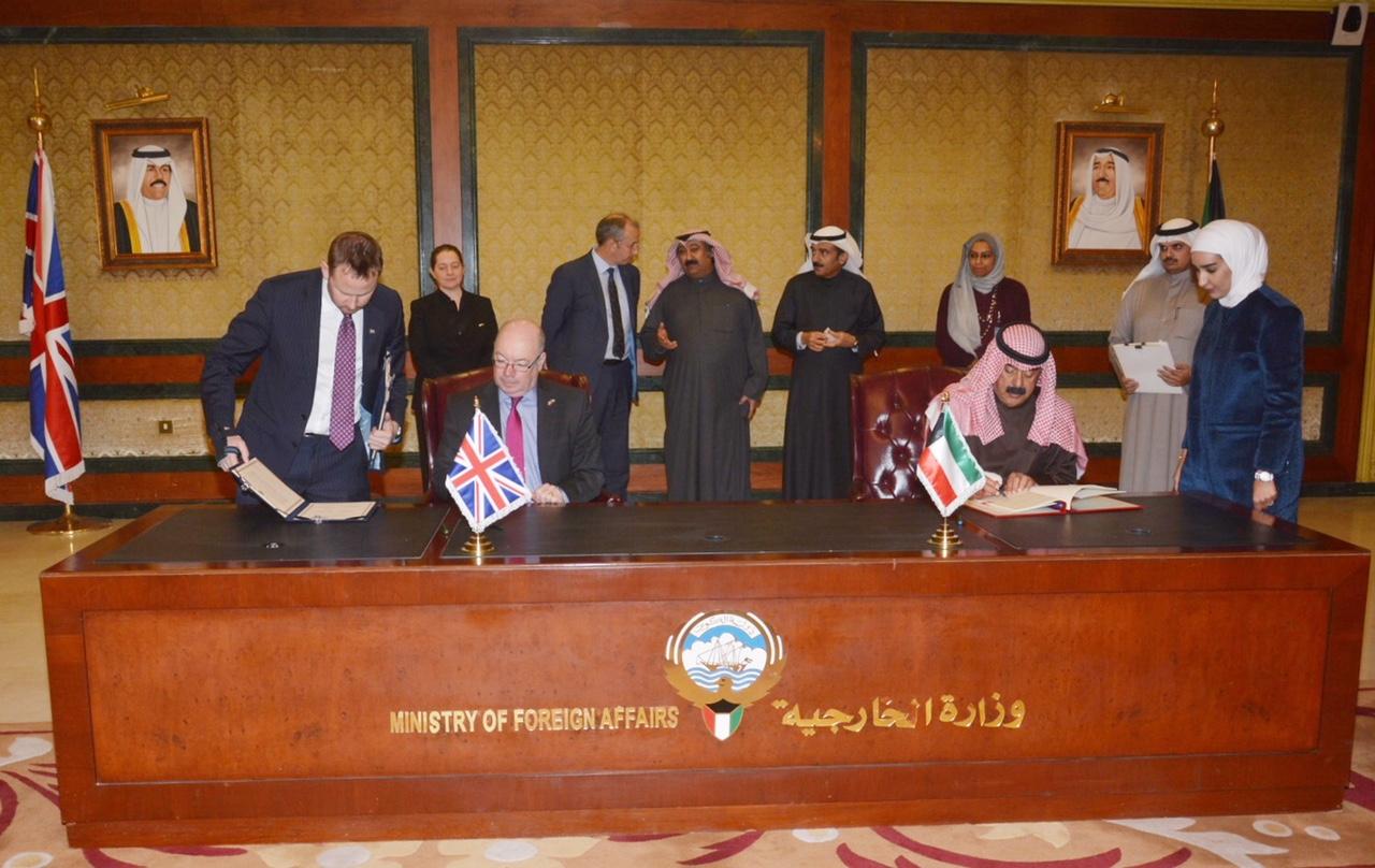 الكويت وبريطانيا تؤكدان التزامهما بتعزيز مجالات العمل المشترك