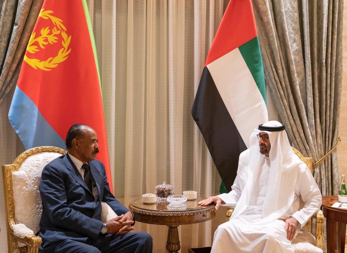 ولي عهد أبو ظبي يبحث مع الرئيس الإريتري سبل التعاون المشترك