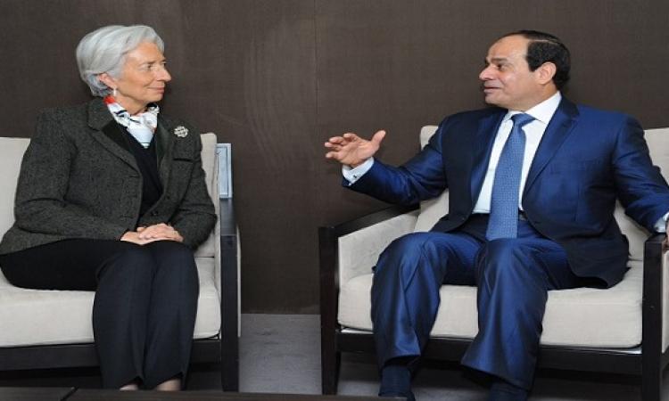 الرئيس السيسي : حريصون على التعاون مع صندوق النقد لتنفيذ الاصلاح الاقتصادي