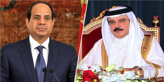 الرئيس السيسي يتلقى اتصالا هاتفيا من الملك حمد بن عيسى آل خليفة ملك البحرين