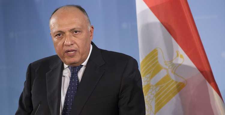سامح شكري يواصل اتصالاته مع الشركاء الدوليين حول تطورات الشأن الليبي