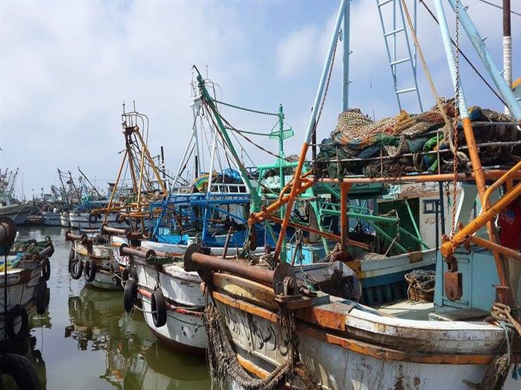فتح ميناء الصيد ببرج البرلس عقب تحسن الطقس