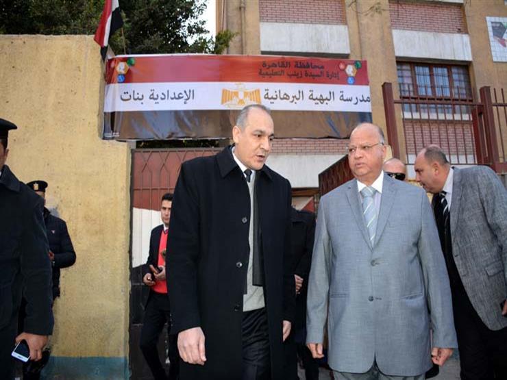 محافظ القاهرة يتفقد امتحانات الفصل الدراسي الأول للشهادة الإعدادية