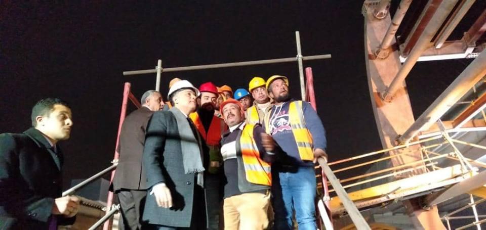 صور | وزير النقل يتفقد معدلات التنفيذ في المرحلة الرابعة للخط الثالث للمترو