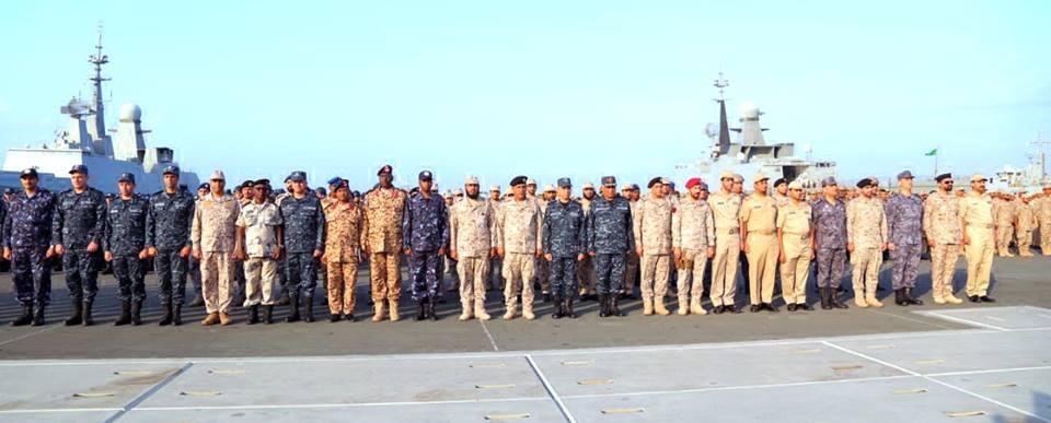 بدء التدريب البحري «الموج الأحمر 1» بمشاركة مصر والسعودية و 4 دول