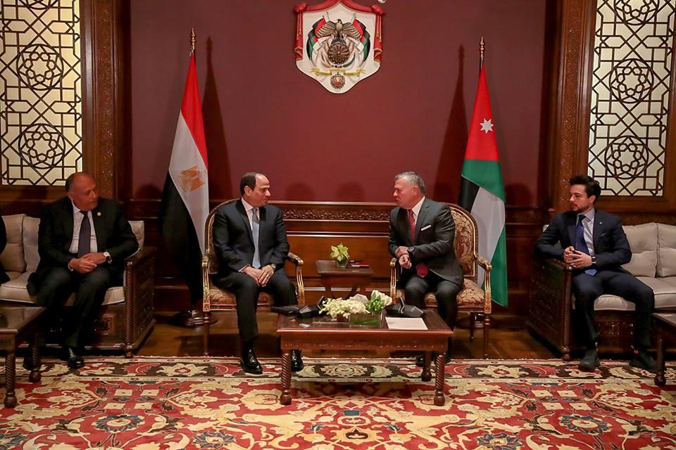 الرئيس السيسي وملك الأردن يتفقان على زيادة التبادل التجاري وتعزيز العلاقات الاقتصادية