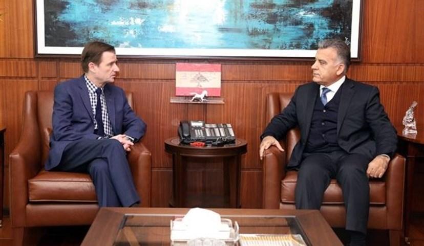 مدير الأمن العام اللبناني يبحث مع مسئول أمريكي أزمة الجدار الإسرائيلي الفاصل