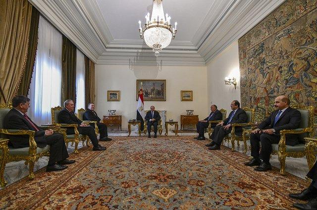 لقاء الرئيس السيسي ووزير الخارجية الأمريكي يتصدر عناوين الصحف المصرية