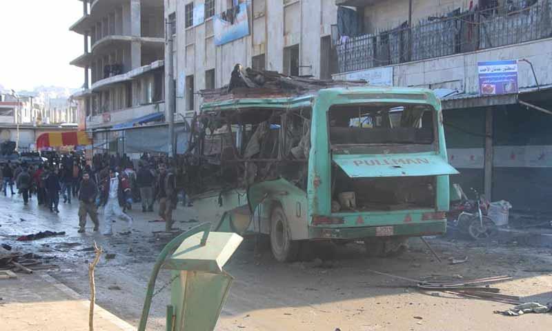المرصد السوري: مقتل 3 مدنيين جراء انفجار عبوة ناسفة بمدينة عفرين