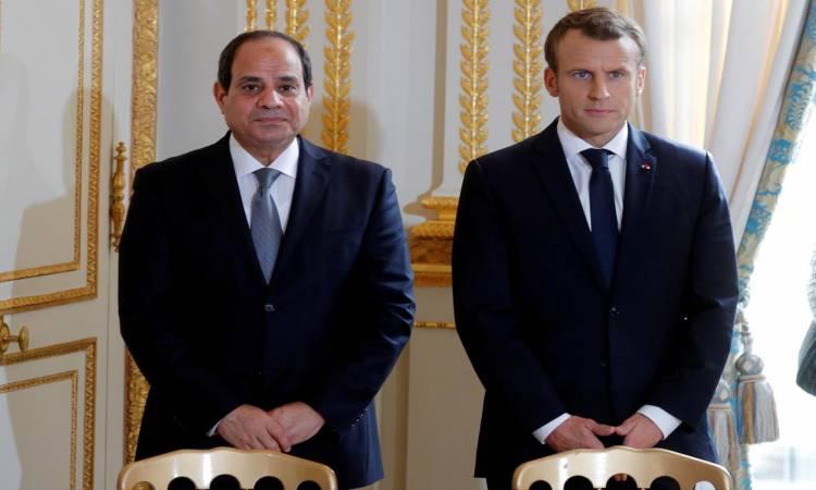 انتهاء قمة الرئيس السيسي ونظيرة الفرنسي وبدء جلسة المباحثات الموسعة
