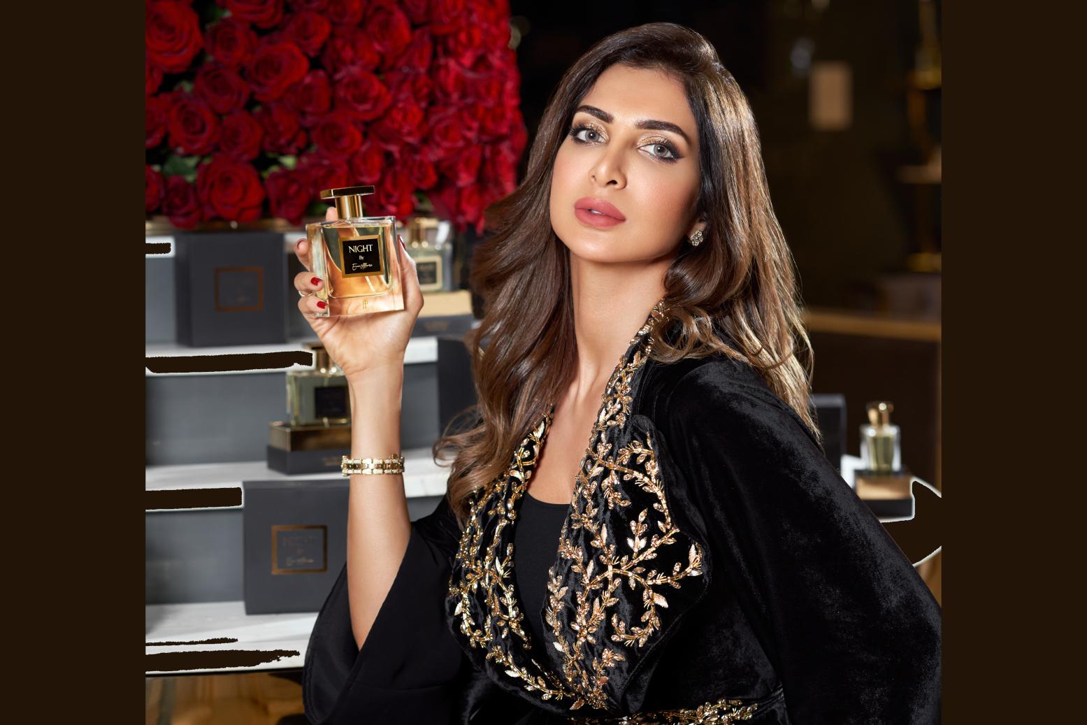 صور| مصممة الأزياء إيمان الفلامرزي تطلق عطرها الجديد من توب برفيومر