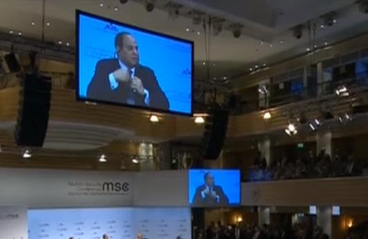 نص كلمة الرئيس السيسي في الجلسة الرئيسية لمؤتمر ميونخ للأمن