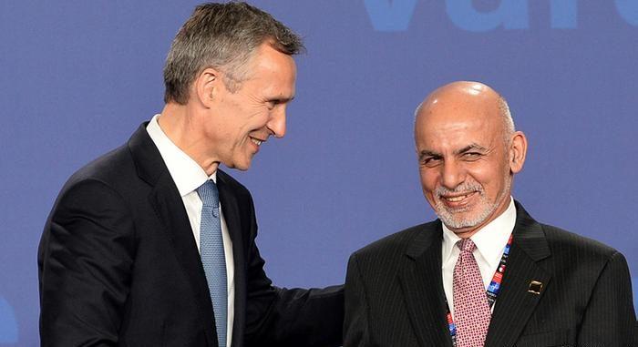 الرئيس الأفغاني يبحث مع سكرتير عام الناتو عملية السلام ومكافحة الإرهاب