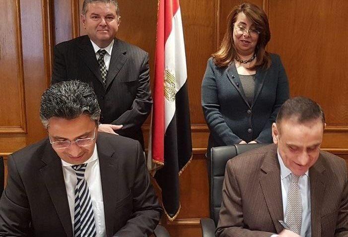 وزيرا قطاع الأعمال والتضامن يشهدان توقيع اتفاق تسوية بين بنك ناصر و النصر للتصدير
