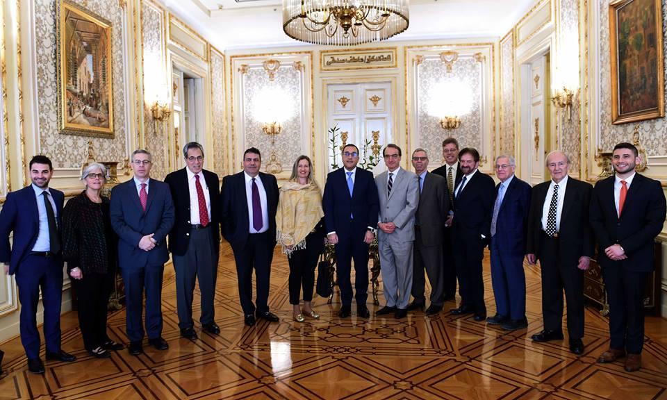صور | رئيس الوزراء يبحث مع وفد اللجنة اليهودية الأمريكية سبل تعزيز العلاقات المشتركة
