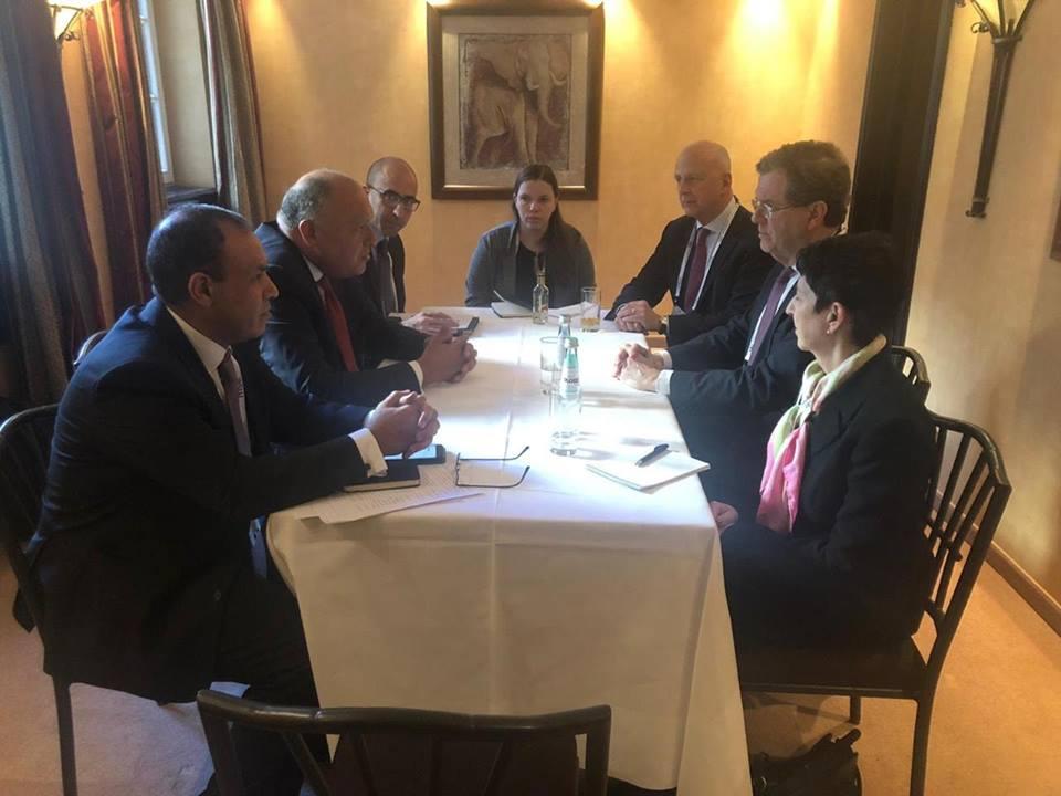 وزير الخارجية يبحث مع اللجنة اليهودية الأمريكية سبل استئناف عملية السلام