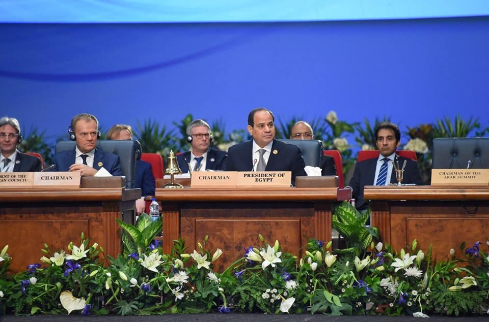 صور | تفاصيل ترؤس الرئيس السيسي أعمال الجلسة الختامية من القمة العربية الأوروبية