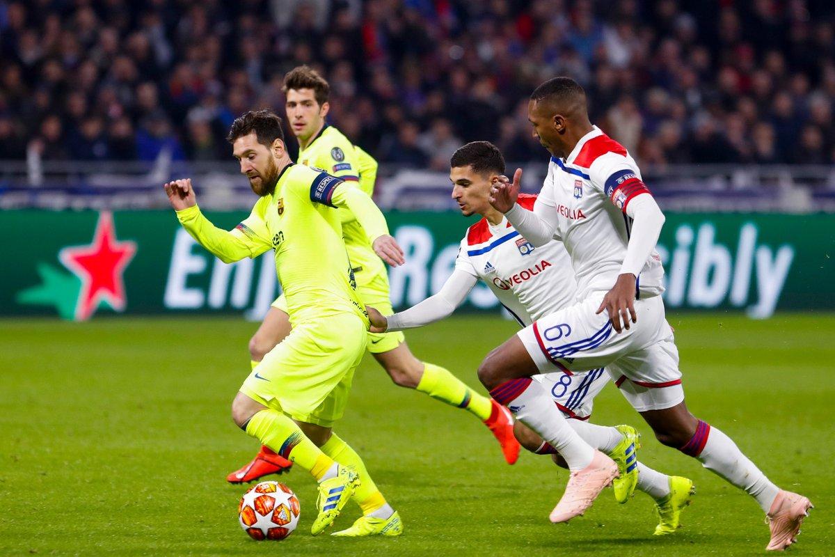 صور | برشلونة يسقط في فخ التعادل أمام ليون في دوري أبطال أوروبا