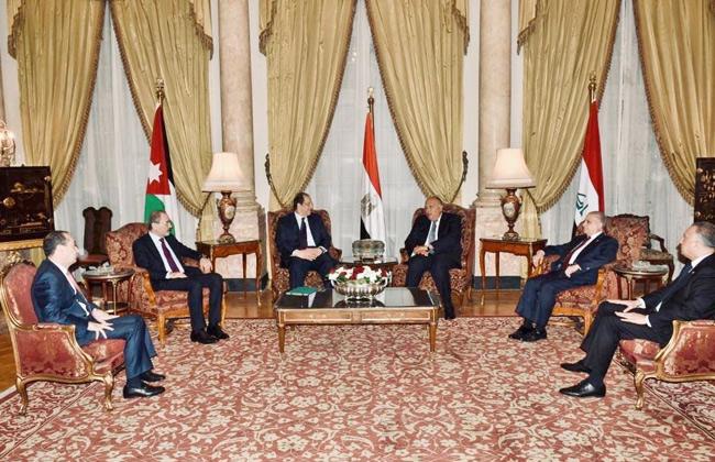 بدء اجتماع وزراء خارجية ورؤساء مخابرات مصر والأردن والعراق