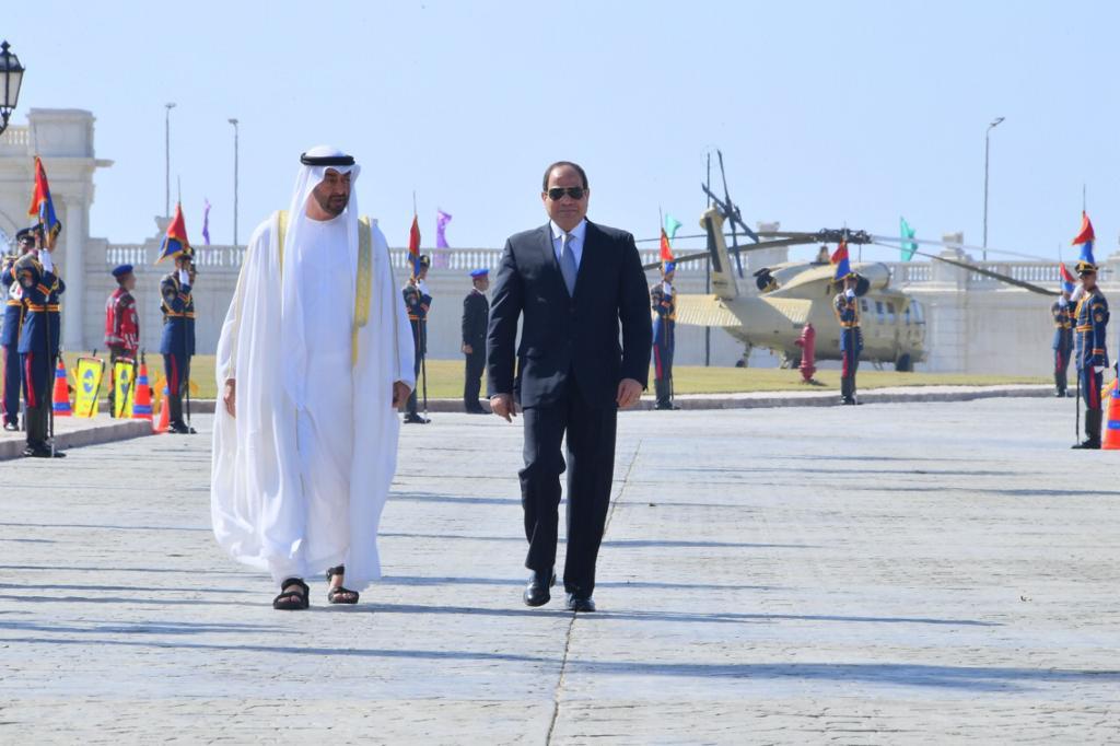 الرئيس السيسي يستقبل ولى عهد أبوظبى بقصر رأس التين في الإسكندرية