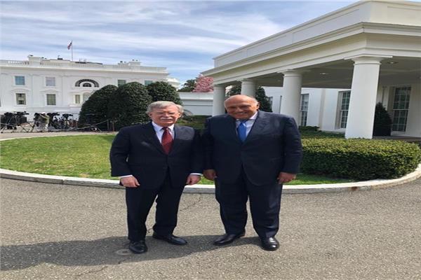 شكري يلتقي مستشار الأمن القومي الأمريكي