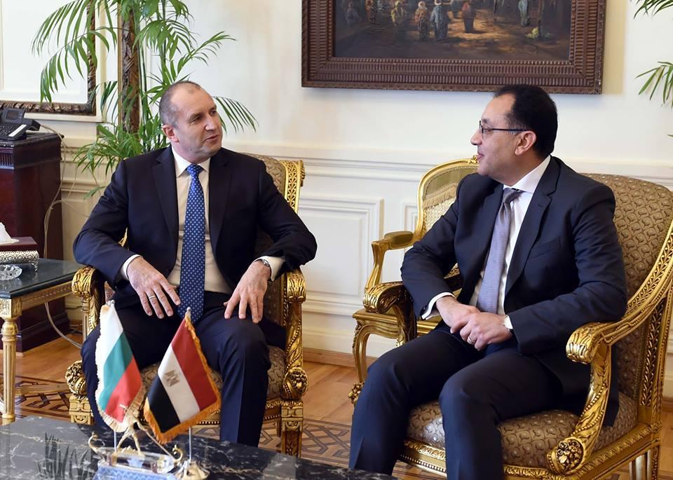 مصطفى مدبولي ورئيس بلغاريا يشهدان توقيع مذكرة تفاهم لـ تطوير المناطق الصناعية