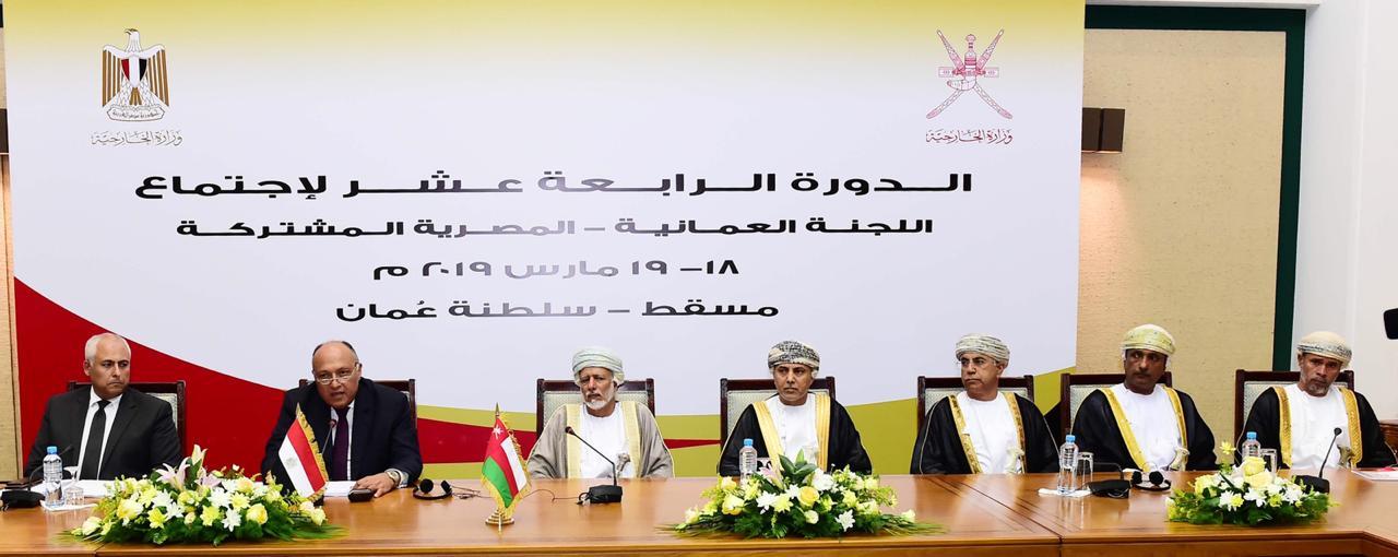 وزير الخارجية يرأس وفد مصر في أعمال اللجنة المصرية العُمانية المشتركة بمسقط