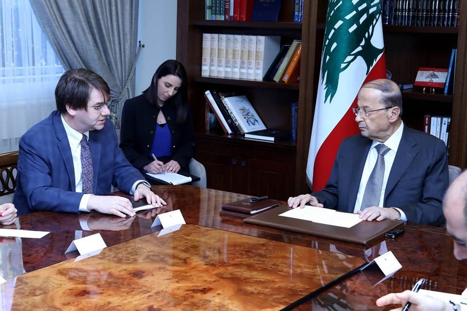 الرئيس اللبناني يبحث مع صندوق النقد الدولى الإصلاحات الاقتصادية