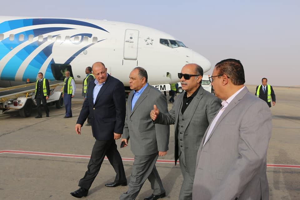صور | مطار أسوان الدولى يتزين لإستقبال وفود ملتقي الشباب العربى الإفريقى 2019