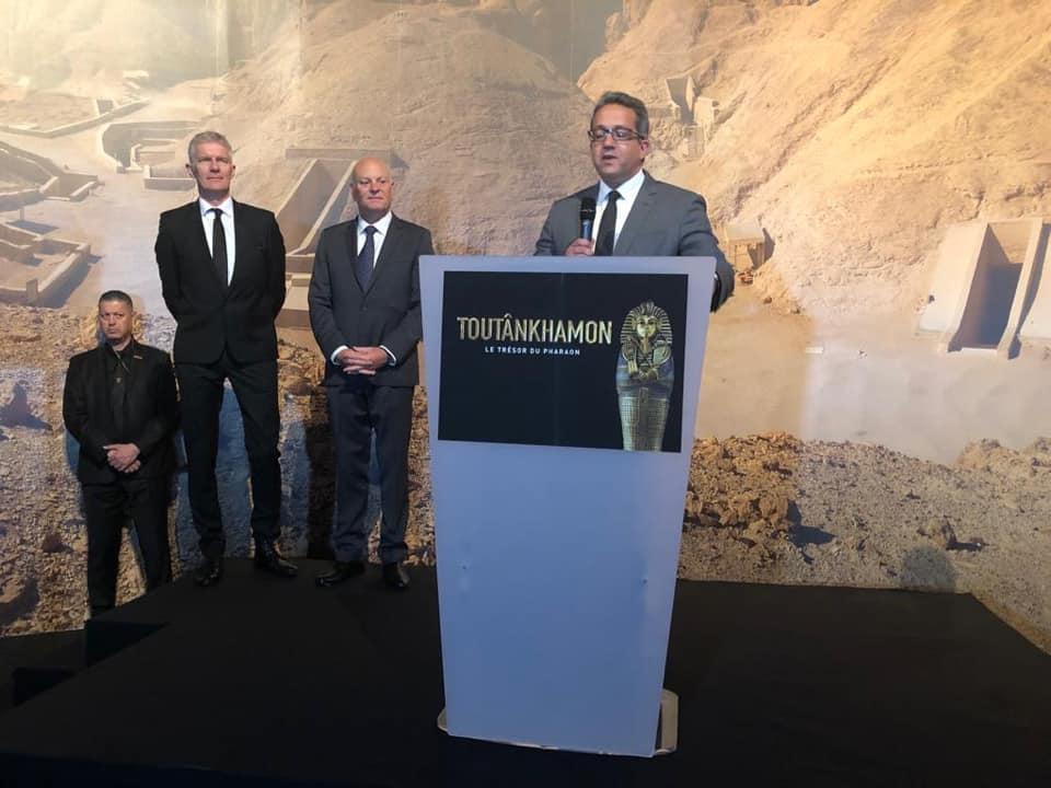 صور | 400 قناة ووكالة في المؤتمر الصحفي للإعلان عن معرض الملك توت عنخ آمون بباريس