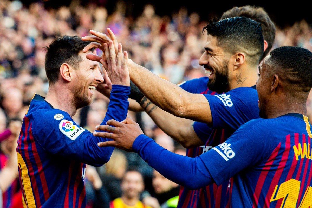صور | ميسي يقود برشلونة للفوز على اسبانيول بثنائية نظيفة في قمة كتالونيا