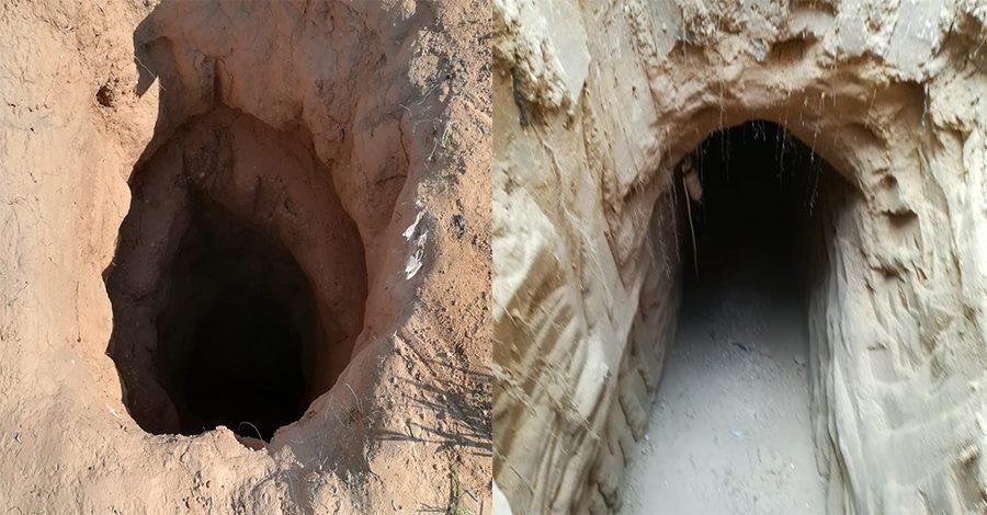 صور | اكتشاف وتدمير 9 فتحات لأنفاق على الشريط الحدودى بشمال سيناء