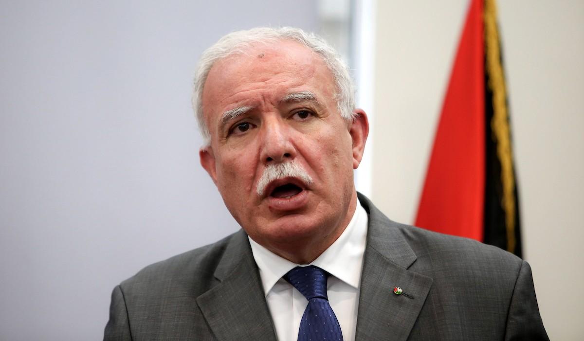 وزير الخارجية الفلسطينى يطالب كندا باستمرار الضغط على إسرائيل لمنع ضم أراضى الضفة